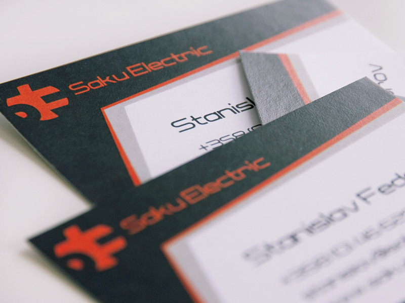 Saku Electric visit card design