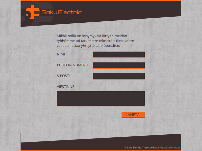 Saku Electric website contact