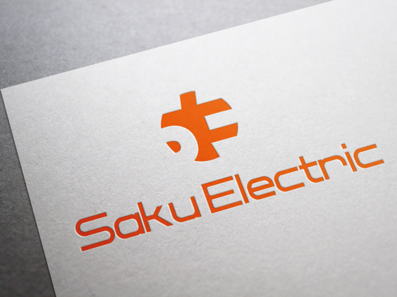 Saku Electric logo design